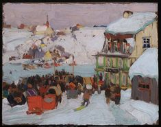 114 Artworks By Clarence Gagnon,clarence Gagnon Oil Painting & Art Prints For Sale,transform Space With Your Favorite Clarence Gagnon Paintings And Frames At Payable Price. We Ship Artwork Worldwide,you Can Custom The Size And Frame. Canadian Painters, Canadian Artists, Clarence Gagnon, Tom Thomson Paintings, Art Gallery Of Ontario, Winter Art, Winter Snow, Of Montreal, Art Prints For Sale