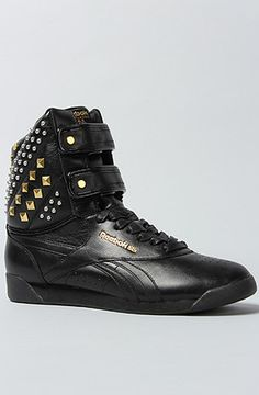 5d8829e9bf3 The Alicia Keys X Reebok Dubble Bubble Studded Sneaker in Black Studded  Sneakers, All Black