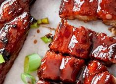 Sticky Chinese Barbecue Pork Belly Ribs (Char Siu)