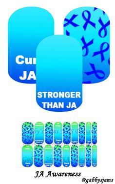 My Jamberry Wraps NAS JA Awareness #jamberry #gabbysjams Contact me if you are interested in purchasing them: https://www.facebook.com/gabbysjams/ or gabbysjams@gmail.com or https://www.facebook.com/groups/gabbysjamsnasdesigns/