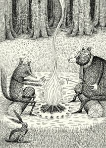 'Camp Fire' by Alex G. Griffiths.