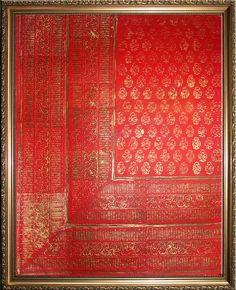 Sari 2 Original Painting and Block Printing on Paper by VyalaArts Indian Fabric, Sari Fabric, Fabric Art, Block Painting, Framed Fabric, Indian Home Decor, Textile Patterns, Textiles, Home Crafts