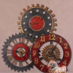 217 Best Large Wall Clock Decor Images