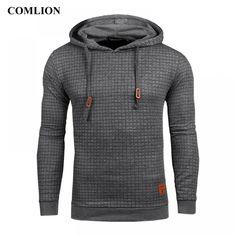 Plaid Hoodies Men Long Sleeve Solid Color Hooded Sweatshirt Male H Sweat Shirt, Casual Tops, Men Casual, My Guy, Mens Sweatshirts, Pulls, Like4like, Sportswear, Mens Tops