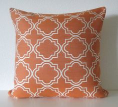 Pindler & Pindler Mudejar Verano orange geometric designer throw pillow cover