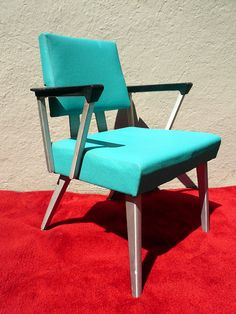 1960s Mid Century Modern Aluminum Office Chair  i found two of these chairs on a curb on garbage day. They are now at my dinner table.