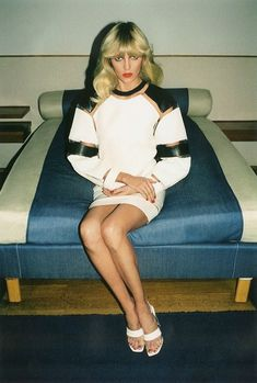 Anja Rubik Dons Throwback Style for Self Service S/S 2013 by Walter Pfeffier
