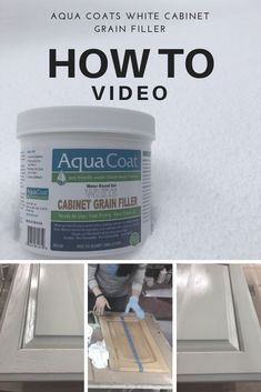 Aqua Coat White Grain Filler – Product How To * grain filler for wood cabinets There is a huge pull right now to paint kitchen cabinets. You will want to use a grain filler for wood cabinets when painting your kitchen. Plywood Cabinets, Built In Cabinets, Custom Cabinets, White Cabinets, Painted Oak Cabinets, Wooden Cabinets, Kitchen Paint, Kitchen And Bath, How To Paint Kitchen Cabinets White