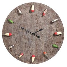 FISHING LURE CLOCK. For my grandparents ;)