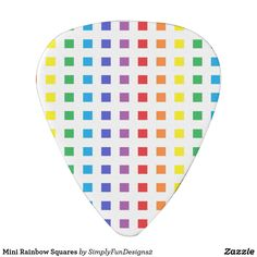 Mini Rainbow Squares Guitar Pick