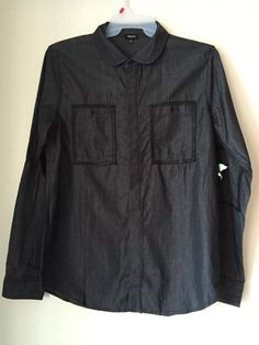 NEW LRG LIFTED RESEARCH GROUP MENS SHIRT BUTTON UP DOWN LARGE BLACK CLUB CLOTHES #LiftedResearchGroupLRG