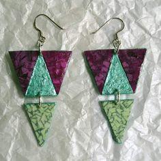 #pendientes triángulos en #coloresdeverano #barcelonainspira #barcelona #diseñosexclusivos #diseñodeautor #regalos #regalosoriginales #handmade