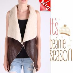 """HOST PICK 1/2COZY LINED FAUX SUEDE VEST! Pretty dark brown, sleeveless, cozy vest. Lined suede, draped with side pockets. 85% polyester/15% PU. PLEASE DO NOT BUY THIS LISTING! I will personalize one for you.                                       ♦️1X: bust 44""""♦️2X: bust 46"""" Jackets & Coats"""