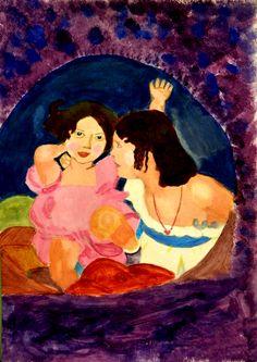 Pintura a l'acrílica d'alumna de 2n d'ESO Pocahontas, Disney Characters, Fictional Characters, Disney Princess, Painting, Color, Art, Pintura, Art Background