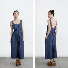 Denim Overall, Denim Jumpsuit , overall dress, loose fit denim , casual wedding dress