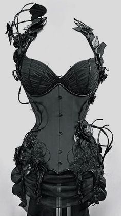 stunning corset - I love that it is industrial, Gothic and still very feminine