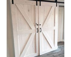 Custom Sliding Barn Door  Modern Reclaimed Slab Style