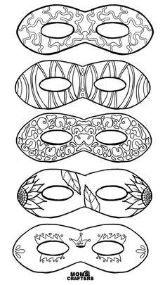 Do you love adult coloring pages but want something functional? Grab these color in masks for adults and kids - including free printables! What a brilliant activity for a Purim party, mardi gras celebration, or any tween or teen party! Carnival Crafts, Carnival Masks, Love Coloring Pages, Adult Coloring Pages, Coloring For Kids, Colouring, Mardi Gras Mask Template, Mardi Gras Masks, Printable Masks
