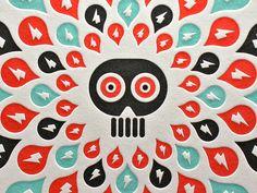 Letterpress Doom Drips by Aesthetic Apparatus Illustrations, Graphic Design Illustration, Illustration Art, Poster Prints, Art Prints, Posters, Graphic Design Print, Typography Poster, Letterpress