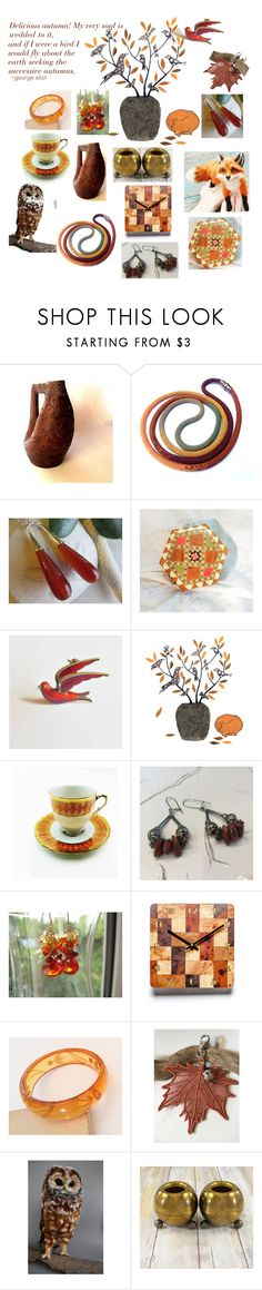"""""""Delicious Autumn"""" by elizabellavintage ❤ liked on Polyvore featuring Farmhouse Pottery and vintage"""