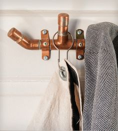 Industrial | Copper | W | Hook | coat | rack | tree | modern | recycle | reuse | repurpose | unique | creative | home | house | interior | design | decoration | decor | household | entryway | mudroom | laundry room |