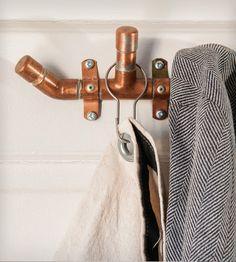 wall hooks, diy crafts, industri copper, kitchen pantries, house interiors, bathroom idea, coat hooks, home kitchens, house interior design