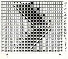 Коллекция схем патентных резинок спицами. Часть 2