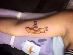 Yellow submarine tattoo