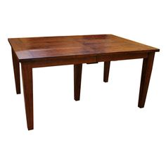 """This 42""""x 60"""" Amish Frontier Dining Table w/ 5-Leaves boasts an unparalleled level of craftsmanship in handmade furniture. Constructed by skilled Amish craftsmen using solid Cherry Wood and finished in a Warm Mission Cherry Finish (shown). The overall style of this particular table is reminiscent of the classic Shaker design emphasizing elegance through simplicity.   This exceptionally durable and sturdy table also features a wood to wood mechanism which allows it to extend from a small…"""