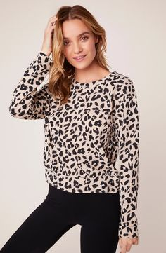Cat Nap Leopard Sweater - Brands we love - Sweaters Steve Madden Outlet, Steve Madden Store, Leopard Sweater, Cozy Sweaters, Comfortable Outfits, Sweater Weather, Lounge Wear, Pullover, How To Wear