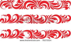 Vector. Russian traditional ornament Hohloma by Vangelis76, via ShutterStock