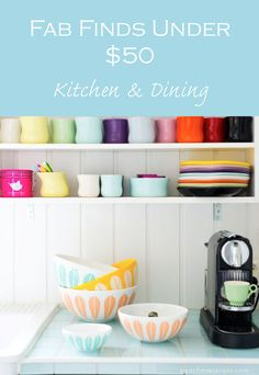 Fab kitchen & dining finds - all under $50. PeachMacarons.com