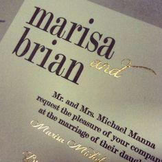 Love the gold foil details
