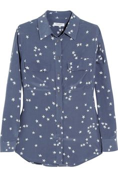 Equipment | Slim Signature printed washed-silk shirt | NET-A-PORTER.COM