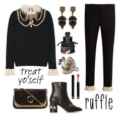 Treat yo' self by nicolevalents on Polyvore featuring polyvore, fashion, style, Gucci and clothing