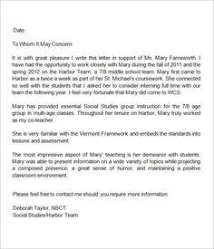 reference letter for lecturer