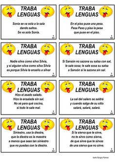 education - tongue twisters will help second language speakers practice their verbal and oral proficiency skills Pronunciation and precision are important for a language learner trabalenguas tonguetwister wordgames secondlanguage spanishteacher spanishga Spanish Classroom Activities, Spanish Teaching Resources, Spanish Language Learning, Elementary Spanish, Ap Spanish, Spanish Words, Spanish Games, Speak Spanish, Spanish Worksheets