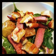 Steak-and-Potato Salad with Mustard Dressing via @LibbyInIndy | March 28, 2012