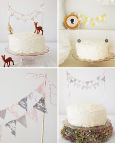 cakes make any occasion a happy one, especially with a tree and fawn upon it