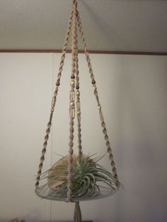 Remember these in the 80's! Macrame Hanging Table/Planter... my mom made these, and I helped! :)