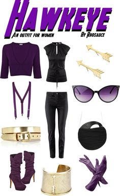 """""""Hawkeye (outfit for women) by Rhosauce"""" by rhosaucey on Polyvore"""