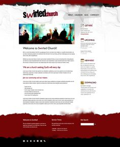 FREE Grunge Red Style Website Template by: testamentdesign.com