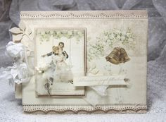 A beautiful wedding card feathering Pion Designs Vintage Wedding collection