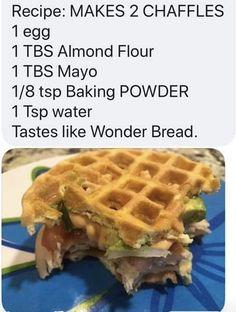 Bariatric Recipes, Ketogenic Recipes, Low Carb Recipes, Cooking Recipes, Flour Recipes, Cetogenic Diet, Keto Waffle, Keto Bread, Keto Dinner