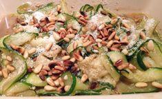 Salade de courgettes au parmesan et pignons de pin, Recette Ptitchef