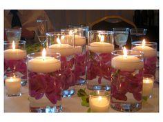 Iluminación de boda con decoración de velas