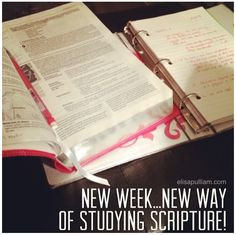 New Way of Studying Scripture . . . and how it's helping me thrive!
