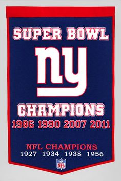 New York Giants Banner 24x36 Wool Dynasty