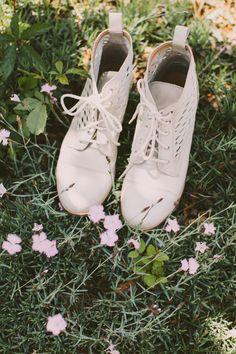 Petites bottes pour la mariée, blanc écru. Cream white wedding boots.  Ballerine, d19e02a651c5