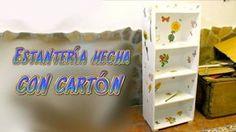 Tutorial mueble estantería hecha de cartón, manualidades baratas con reciclaje